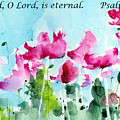 Your Word O Lord Poster by Anne Duke