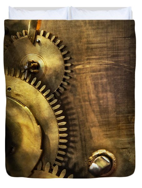 Steampunk - Toothy  Duvet Cover by Mike Savad