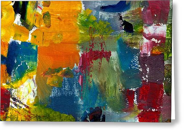 Abstract Color Relationships ll Greeting Card by Michelle Calkins