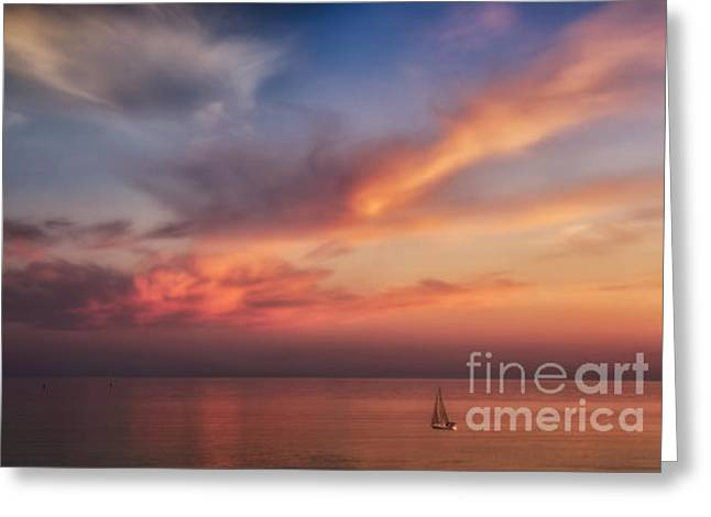 Good Morning Cape Cod Greeting Card by Susan Candelario