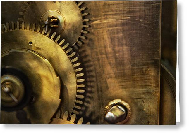 Steampunk - Toothy  Greeting Card by Mike Savad