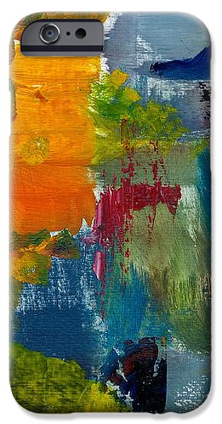 Abstract Color Relationships ll iPhone Case by Michelle Calkins