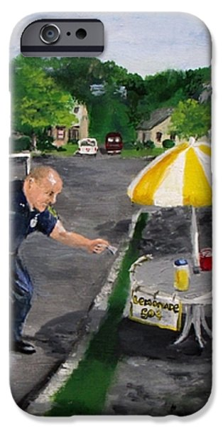 The Lemonade Stand iPhone Case by Jack Skinner