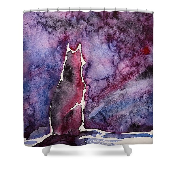 Waiting Shower Curtain by Zaira Dzhaubaeva