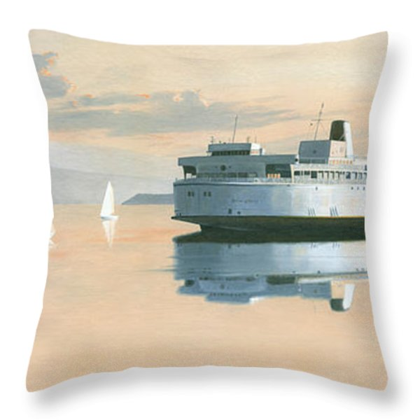 Right of way  The Queen of Burnaby Throw Pillow by Gary Giacomelli